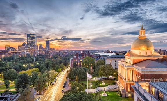 City view of Boston